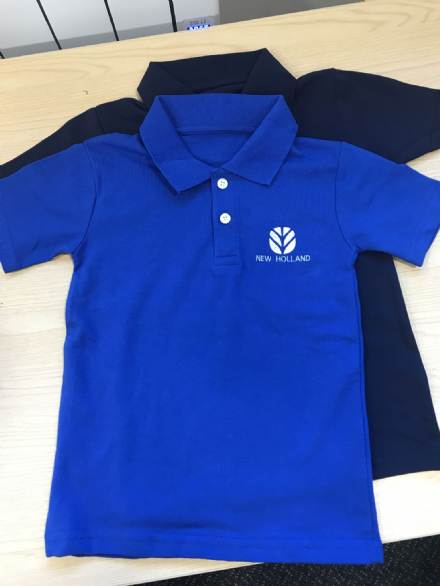 Kids Blue New Holland Polo Shirt 4-5yr